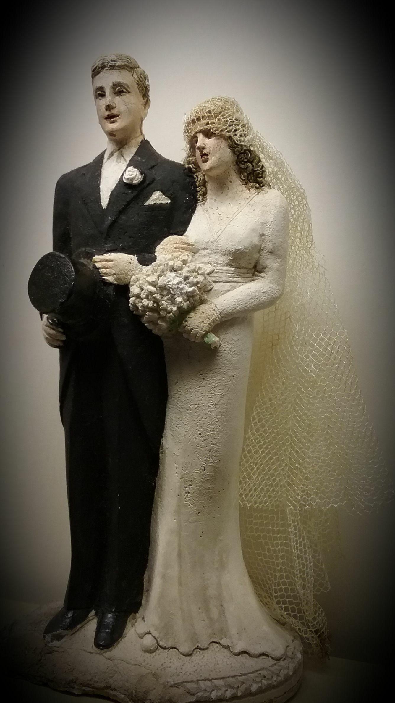 1940 wedding dress   wedding Cake Topper weddingcakes  cakes  Pinterest  Wedding