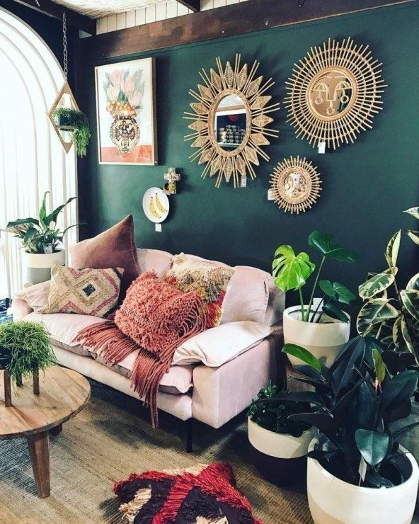 47 Romantic Bohemian Style Living Room Design Ideas #paintinglivingrooms