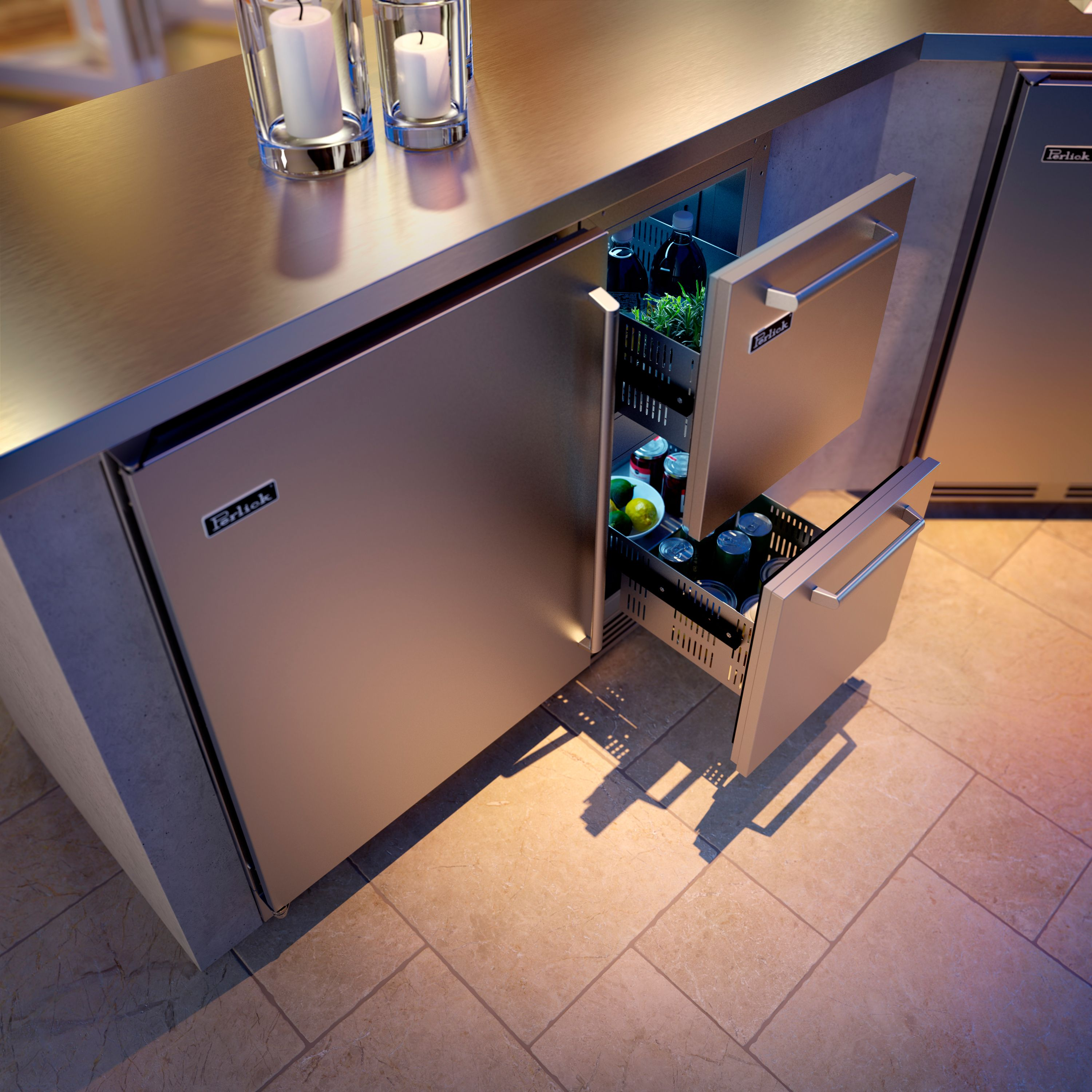 Perlick 15 Outdoor Refrigerator Drawers Are The Perfect Solution For Keeping Herbs Garn Outdoor Refrigerator Undercounter Refrigerator Beverage Refrigerator