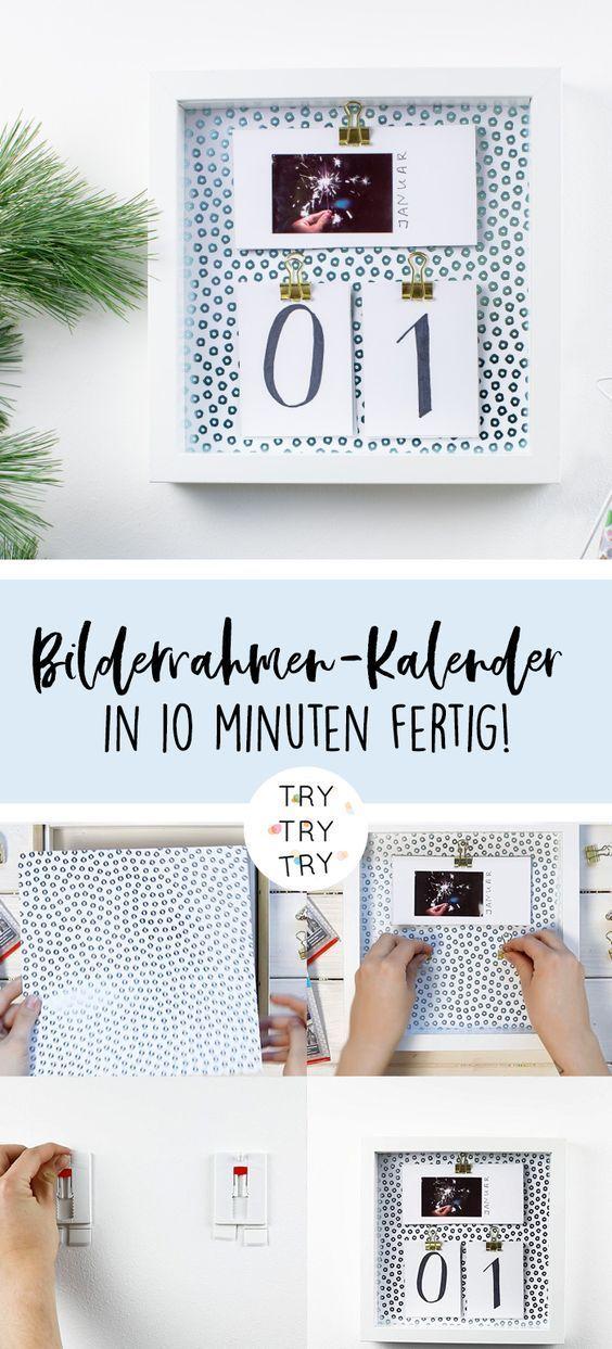 3 DIY Geschenke: Explosionsbox, Gutschein-Kugel und Rahmen-Kalender