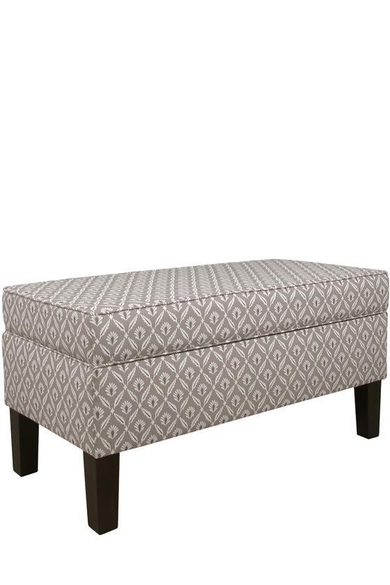 Custom Colton Upholstered Storage Bench   House it going   Pinterest ...