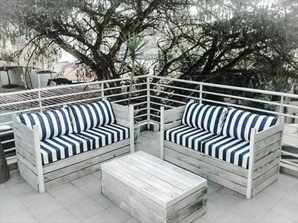 crates pallet patio sitting furniture