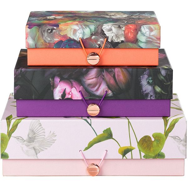 Ted Baker Set Of 3 Storage Boxes Found On Polyvore Featuring Home Home Decor Small Item