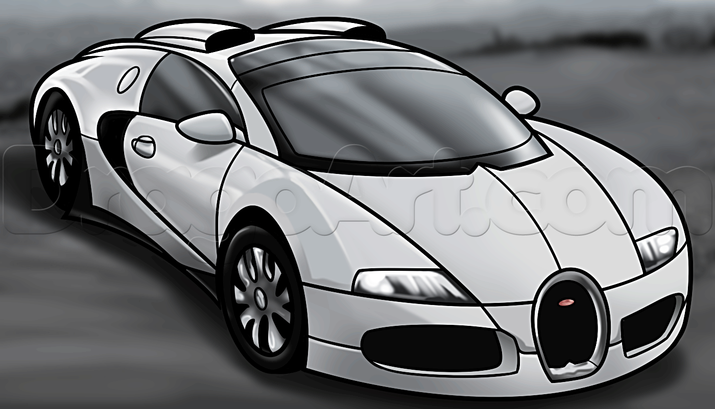 How To Draw A Bugatti Veyron, Step By Step, Cars, Draw Cars Online