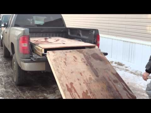 Home Made Snowmobile Ramp Youtube Loading Ramps Atv Loading