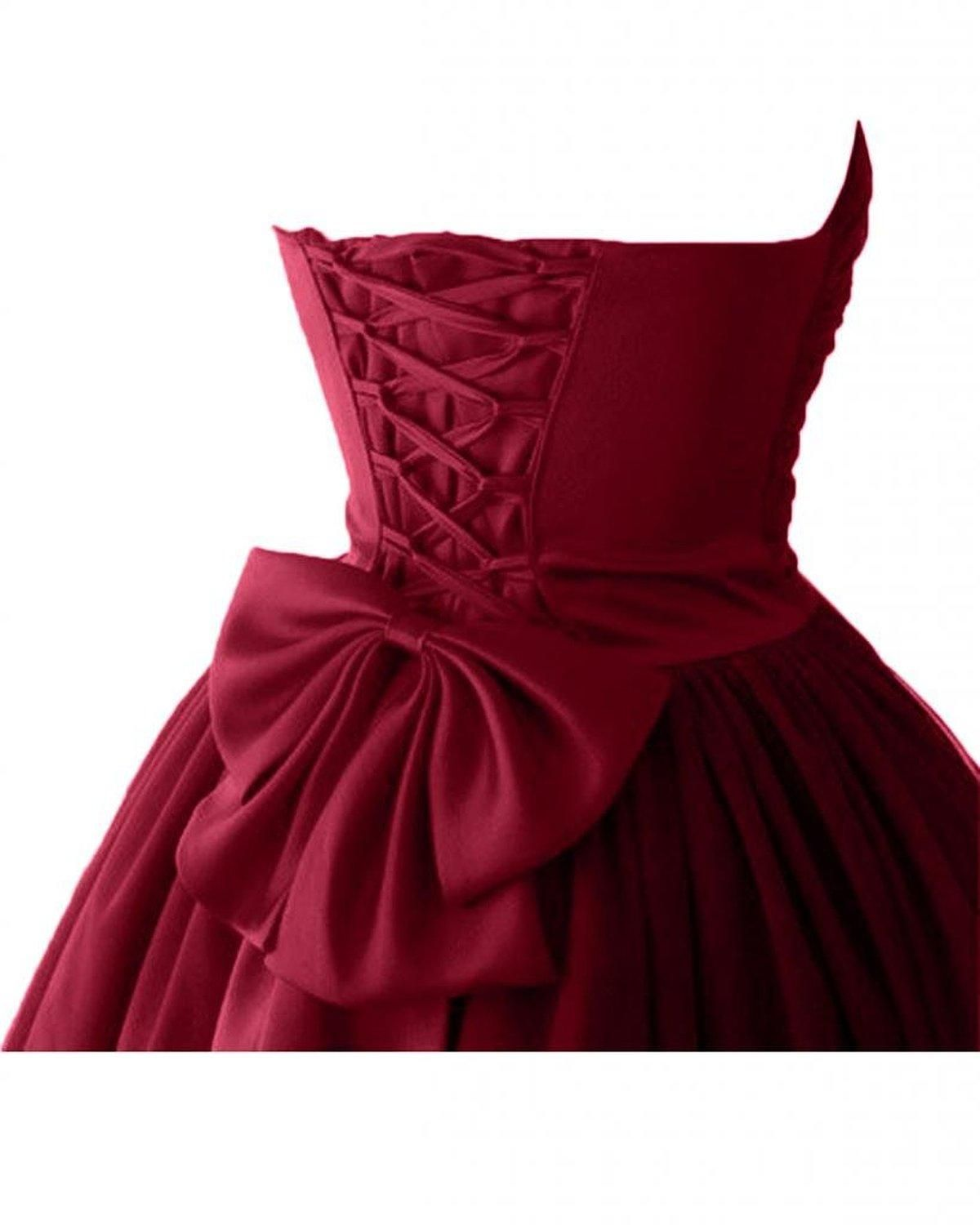 d1e6ea1f8f6 Real Image Cheap Short Puffy Homecoming Prom Dresses 2015 under 100 Victoria  Burgundy Ball Gown Sweetheart Cocktail Dresses with Lace up