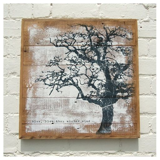 Another nice looking print on reclaimed wood. Winter Tree. http://prolabdigital.com/products-services/fine-art-digital-prints/wood-prints.html