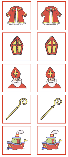 Begeleide of zelfstandige activiteit memory sint for Kindergottesdienst weihnachten ideen