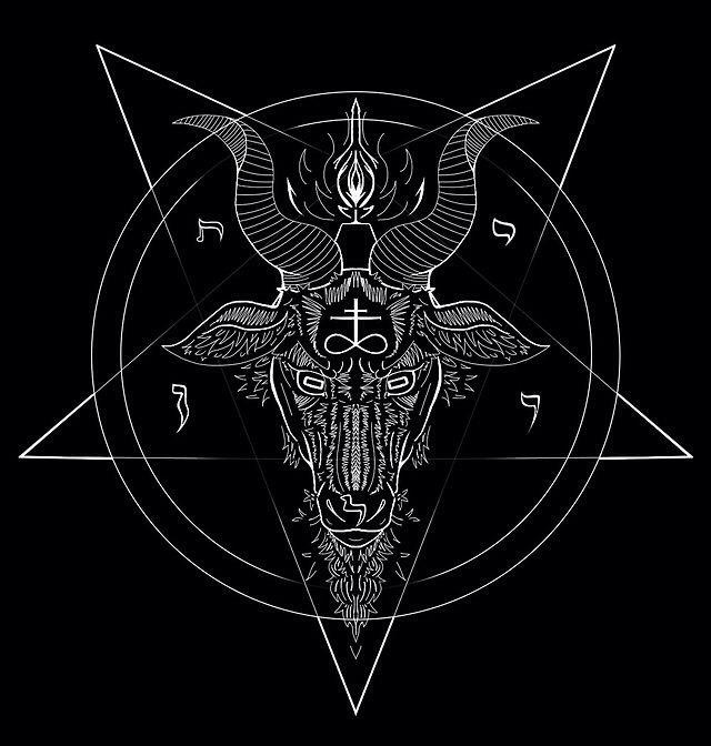 Demonic Pentagram The Devil Gothic Horror Printed Canvas Picture Multiple Sizes
