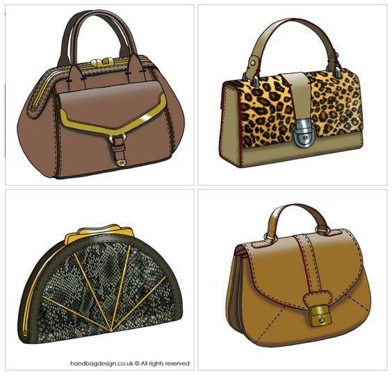 Handbag / Purse design illustration sketch drawing - CAD ...