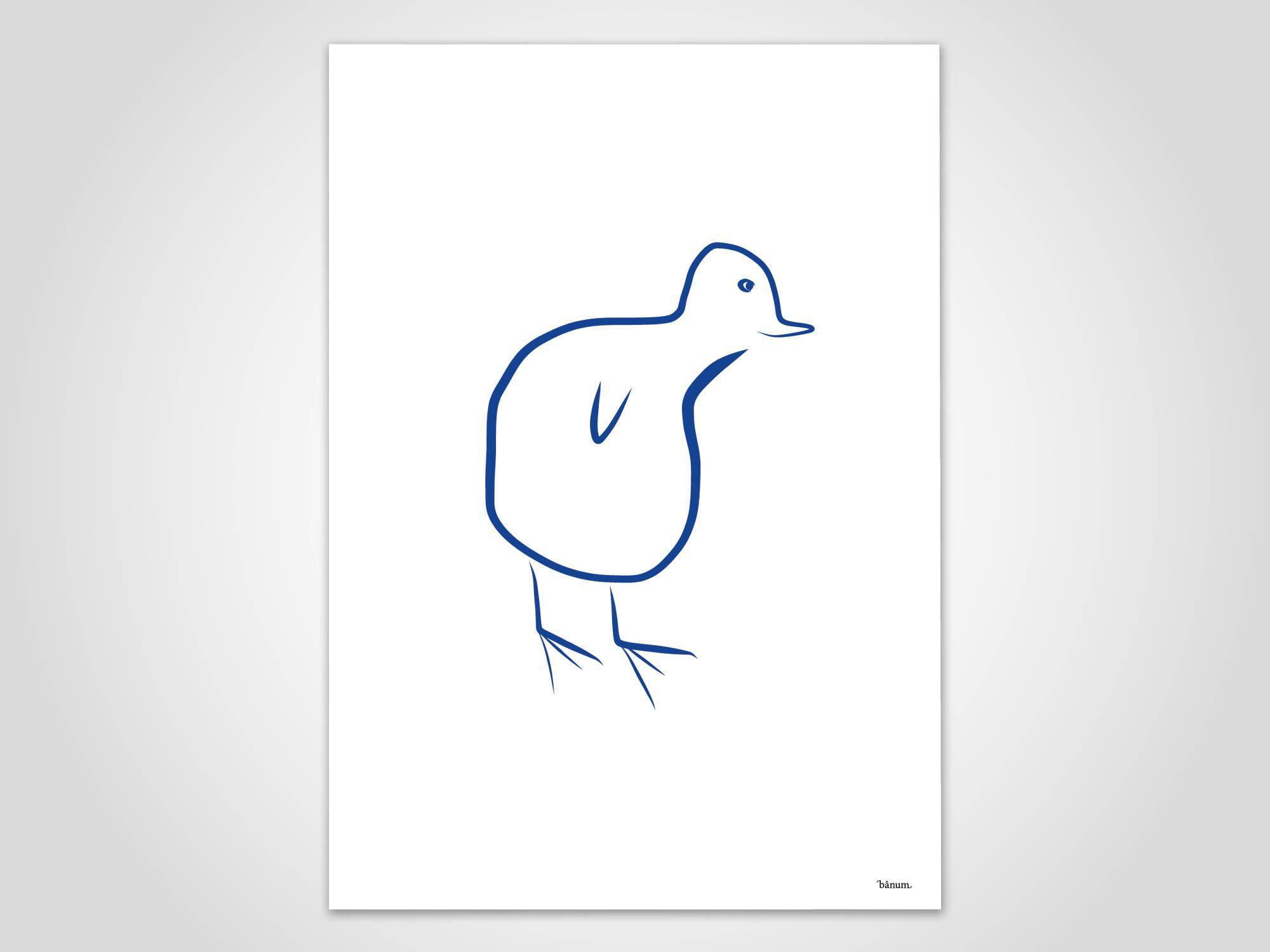 Kücken 2 / Poster, Kunstdruck, Bilder, Deko, skandinavisch, Papier ...