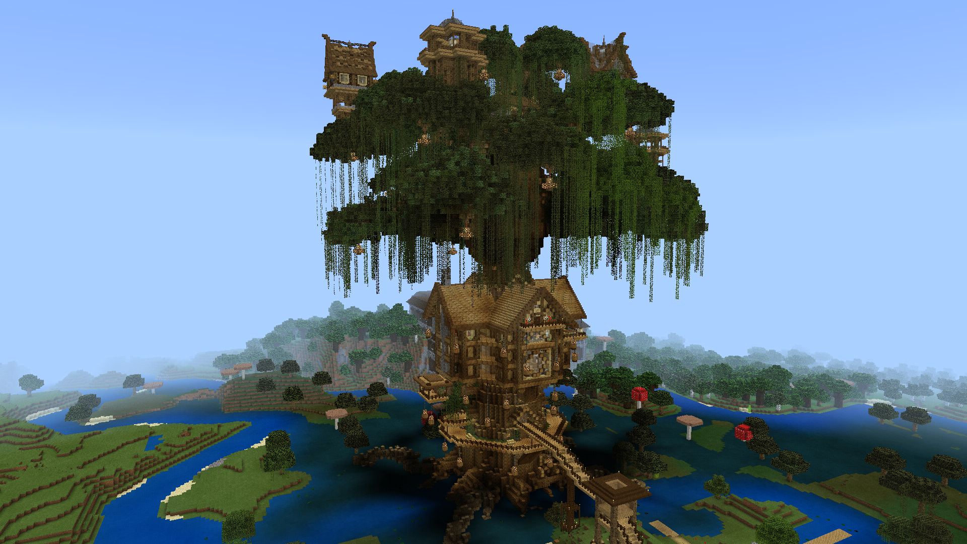 Tree House Tour Album In Comments Minecraft Minecraft