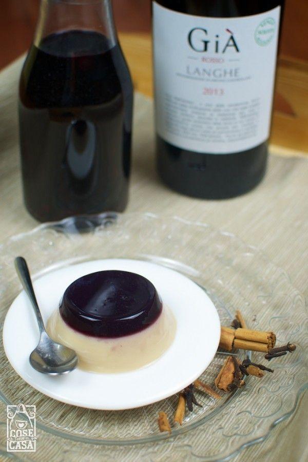Panna cotta al vin brulé: il risultato