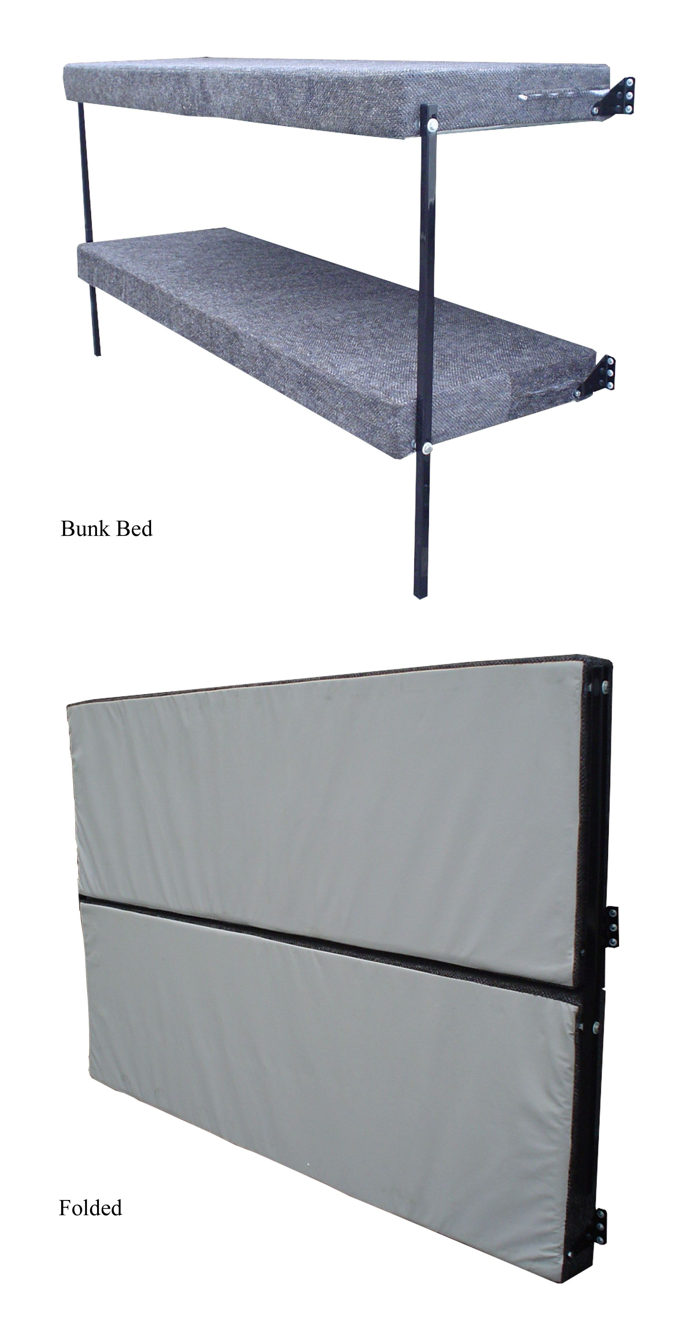 Wall Mount Folding Bunk Bed Ice Fishing Camper Bed Bunk Beds