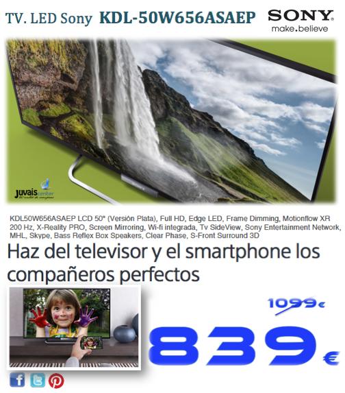 TV. LED Sony KDL-50W656ASA…   Juvais Center, tu centro de compras by ...