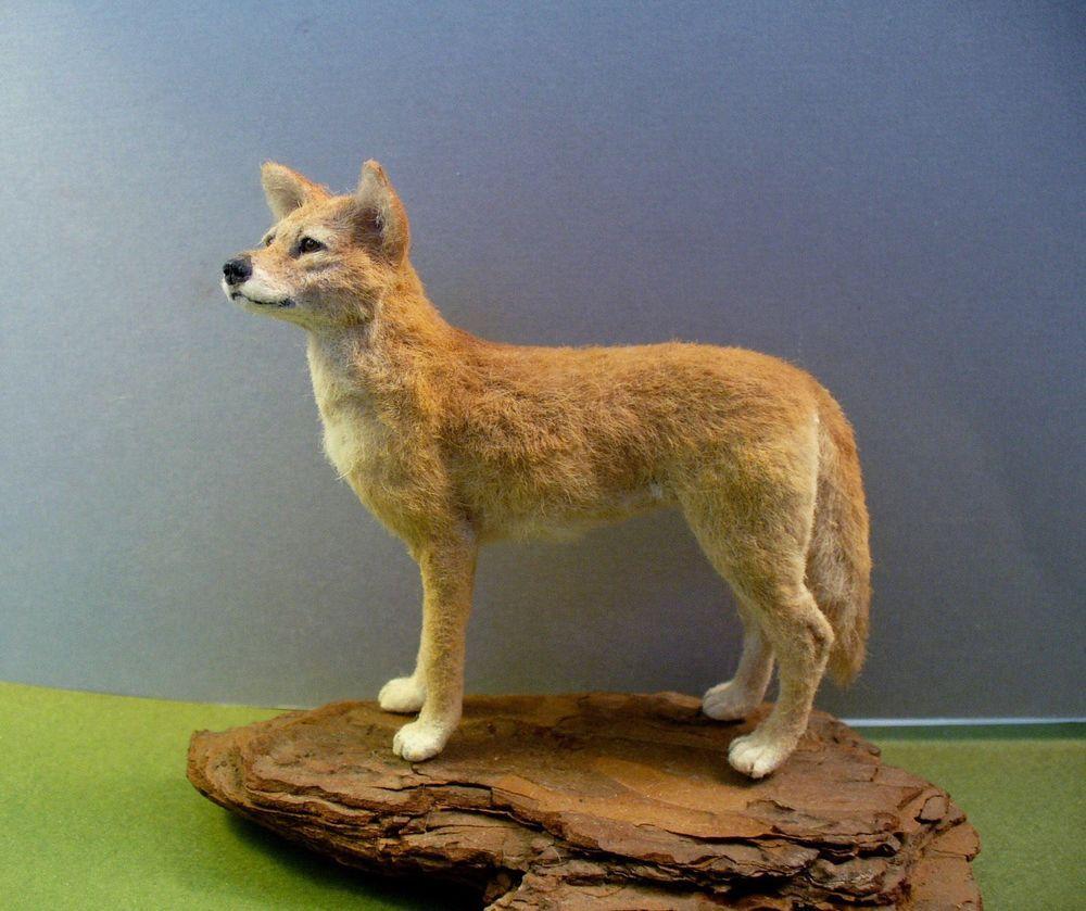 Dollhouse Miniature Australian Dingo *Handsculpted