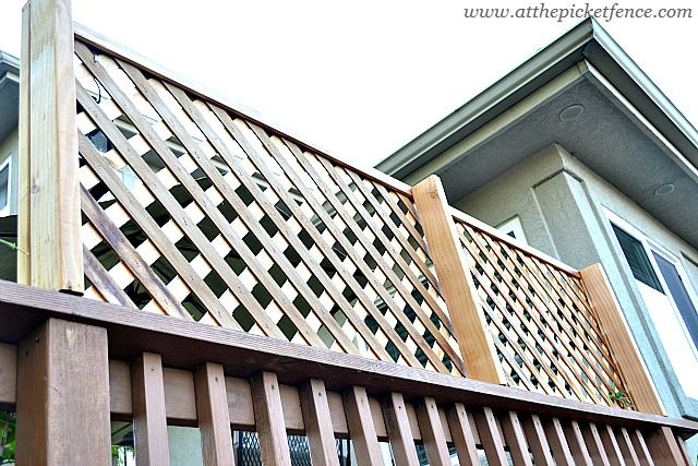 How to add privacy to a deck wood lattice screen for Lattice privacy panels for decks