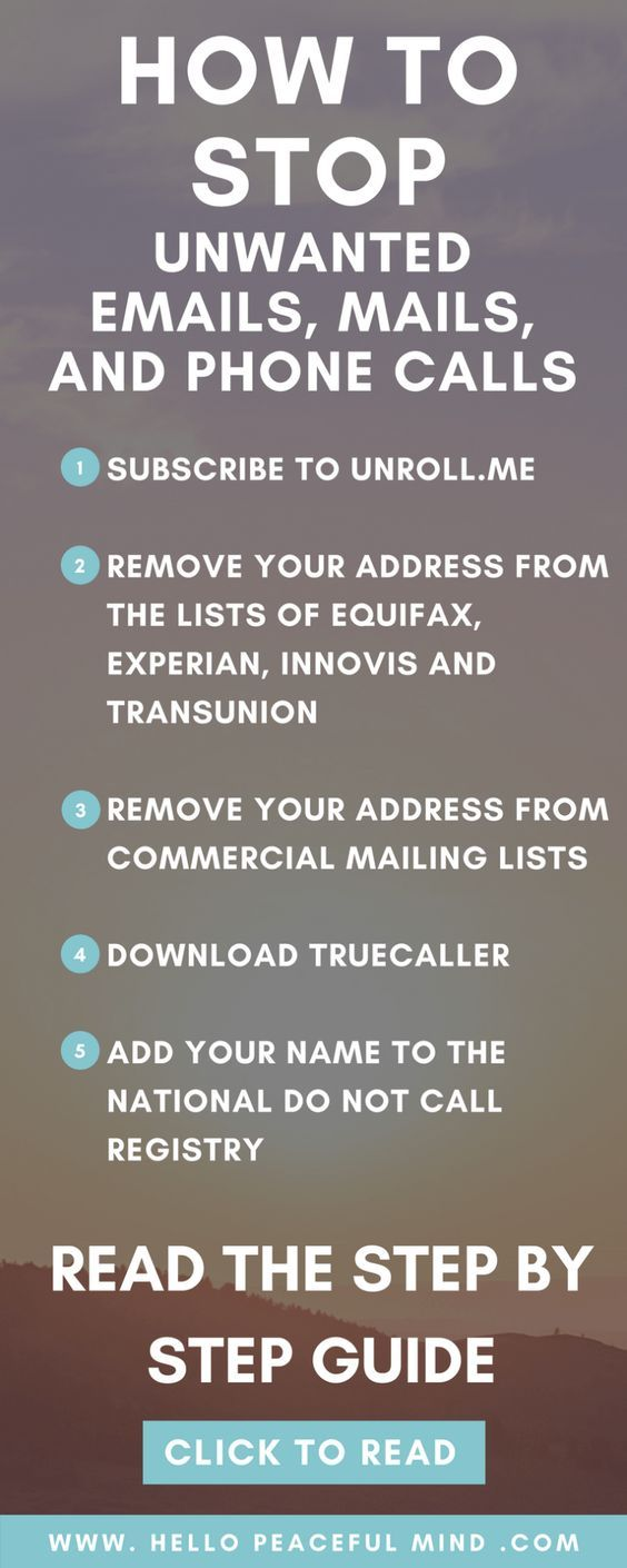 How To Stop Unwanted Emails Mails And Phone Calls Useful Life Hacks Simple Life Hacks Phone Info