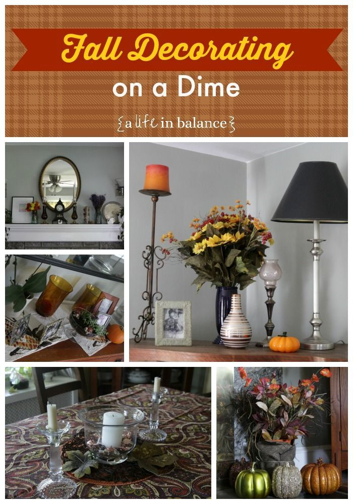 Fall Decorating On A Dime In My Home Decorating On A Dime Fall