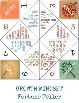 Growth Mindset Lesson + Fortune Tellers: Fun School