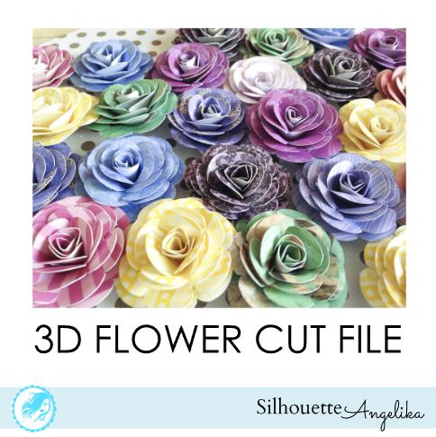 Silhouette 3d Flower Tutorial Flower Tutorial Paper Flowers