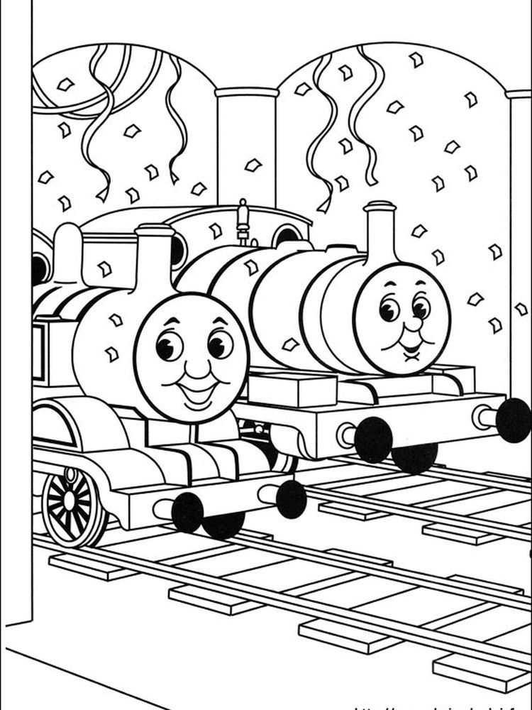 Printable Thomas And Friends Coloring Pages For Kids Free Coloring Sheets In 2020 Train Coloring Pages Birthday Coloring Pages Cool Coloring Pages