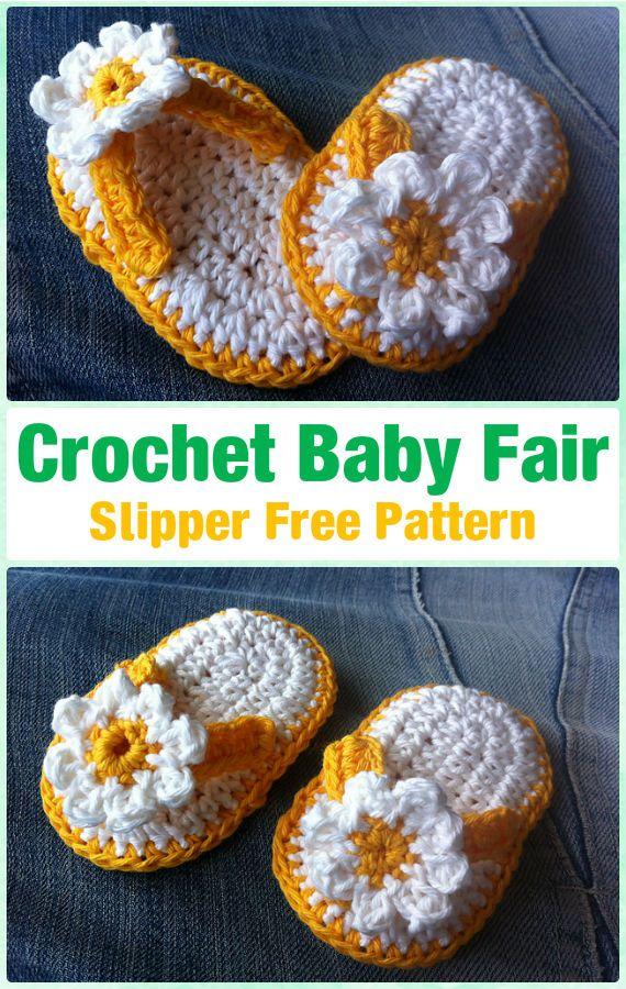 Crochet Baby Flip Flop Sandals Free Patterns Roundup | Patrón libre ...