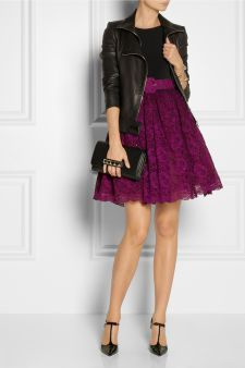 Alice + Olivia|Magnolia crepe and lace dress|NET-A-PORTER.COM