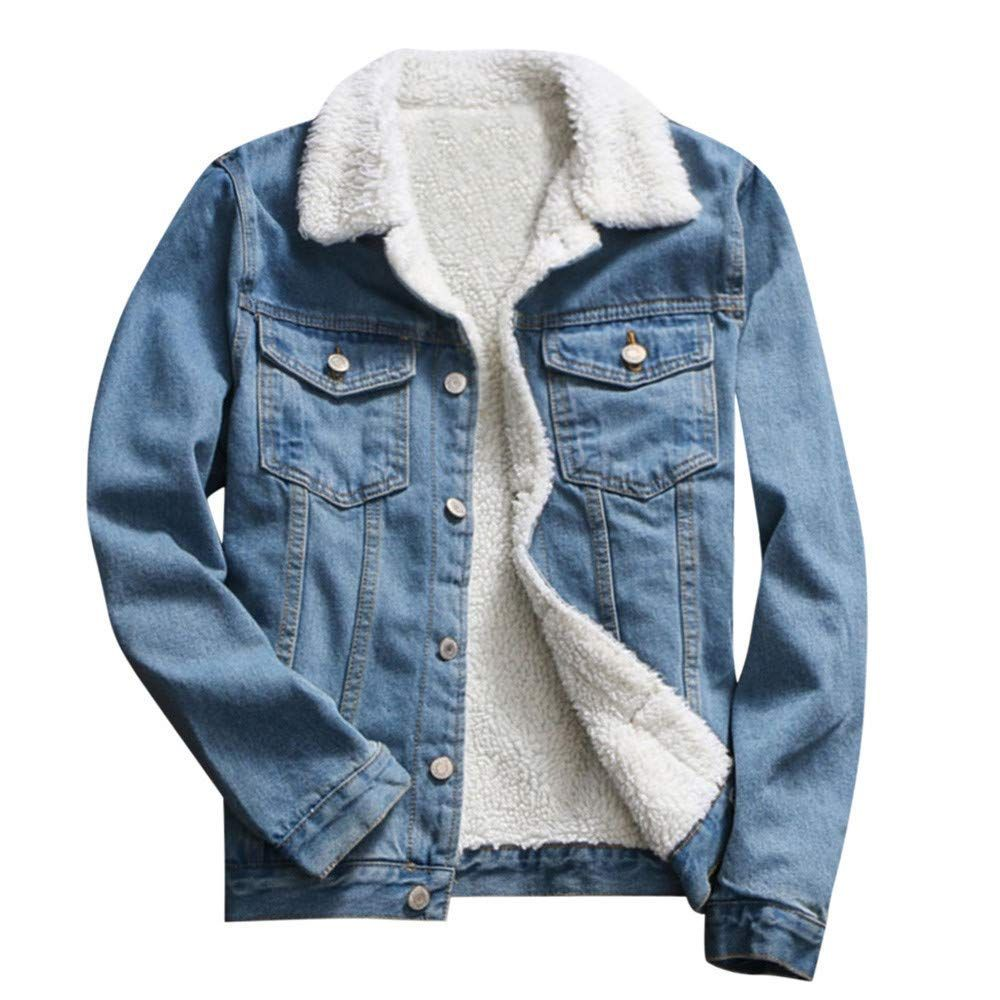 Poto Women Coats Clearance Ladies Denim Upset Jacket Vintage Long Sleeve Loose Jeans Coat Outerwear P Denim Jacket Women Vintage Denim Jacket Jean Jacket Women [ 1000 x 1000 Pixel ]