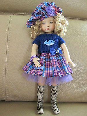 """Vêtement pour poupée Little Darling 13"""" Dianna Effner Fait main  jupe plissée"""
