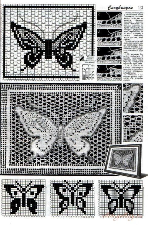 filet häkeln Schmetterling...auf der Seite gibt es noch mehr ...