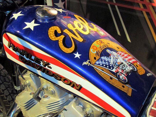 Harley Davidson Xl1000 Used Evel Knievel Viva Motorbike: Evel Knievel, FMX, Daredevils