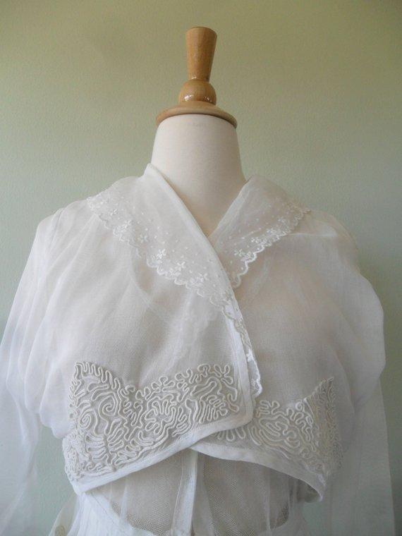 b4264bf786 Edwardian Tea Dress in White
