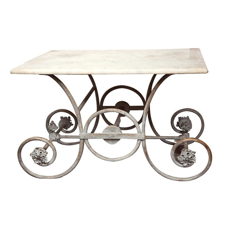 French Marble Topped Pastry Table In 2019