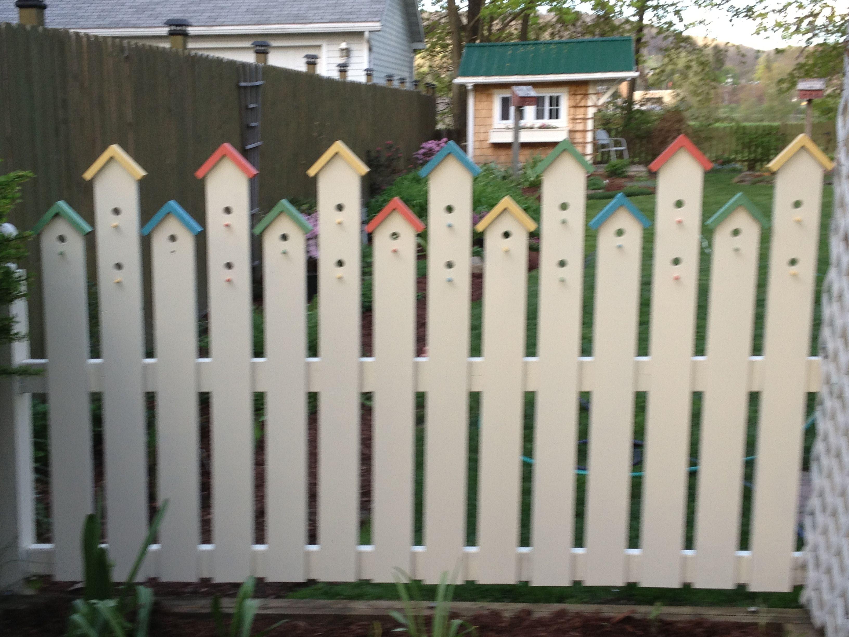 Vogelhaus Zaun origineller Zaun Gartenzäune gibt es in unendlich