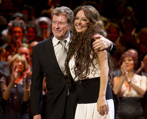michael crawford and sarah brightman at the phantom of the