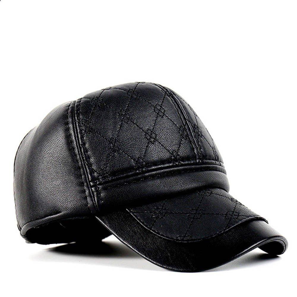 c51f8cc6de0 2017 Sports Cap PU Black Baseball Golf Hats Women Men Fall Leather Trucker  Cap Hiking Camping Fishing Snapback Winter Spring Hat