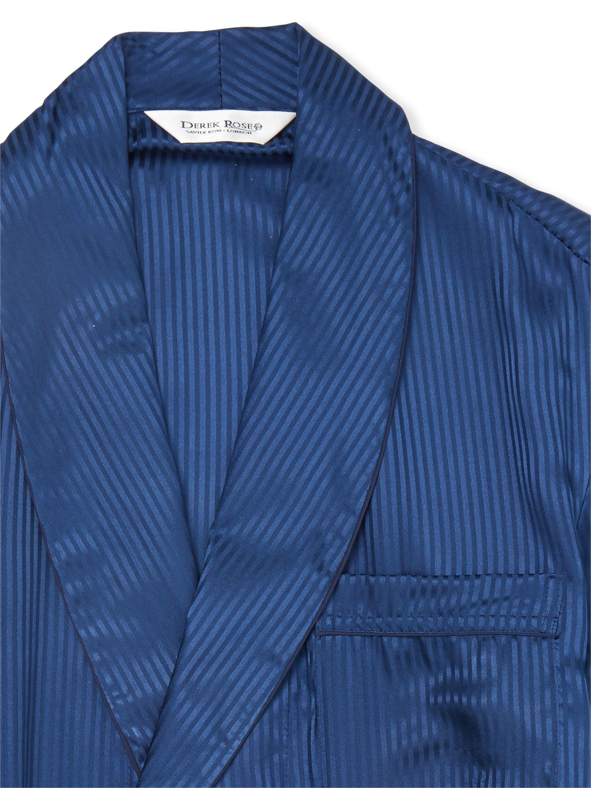 Sherlock Holmes Navy Dressing Gown   Derek Rose   Geekery ...