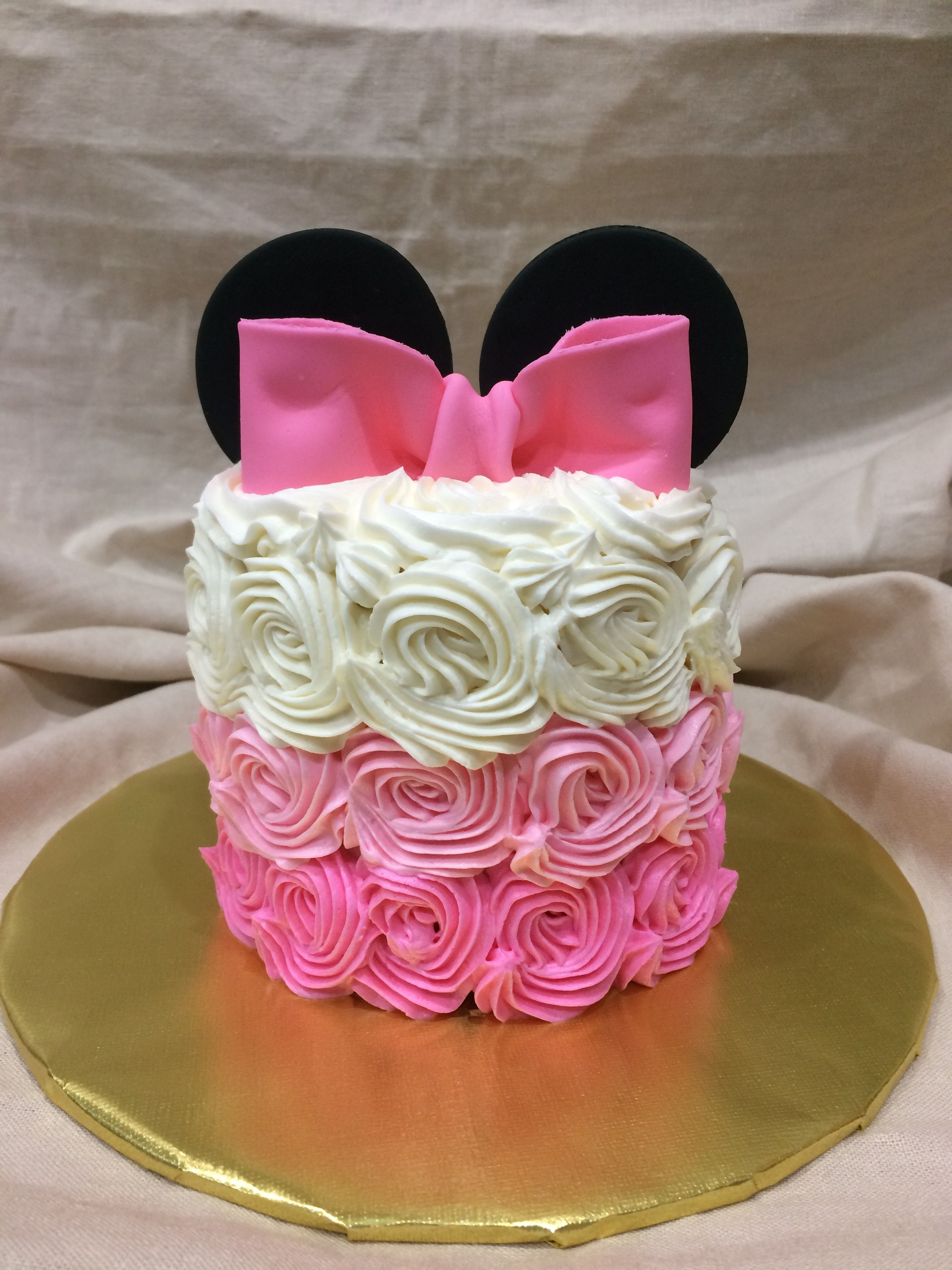 Minnie Mouse Smash Cake Minnie Mouse First Birthday Baby Birthday Cakes Minnie Mouse 1st Birthday