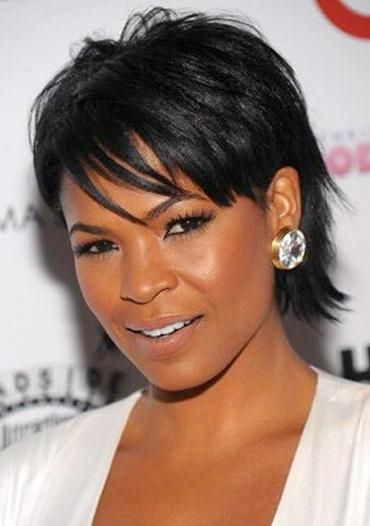 Nia Long Short Flip Black Haircut Styles Cool Short Hairstyles Oval Face Hairstyles
