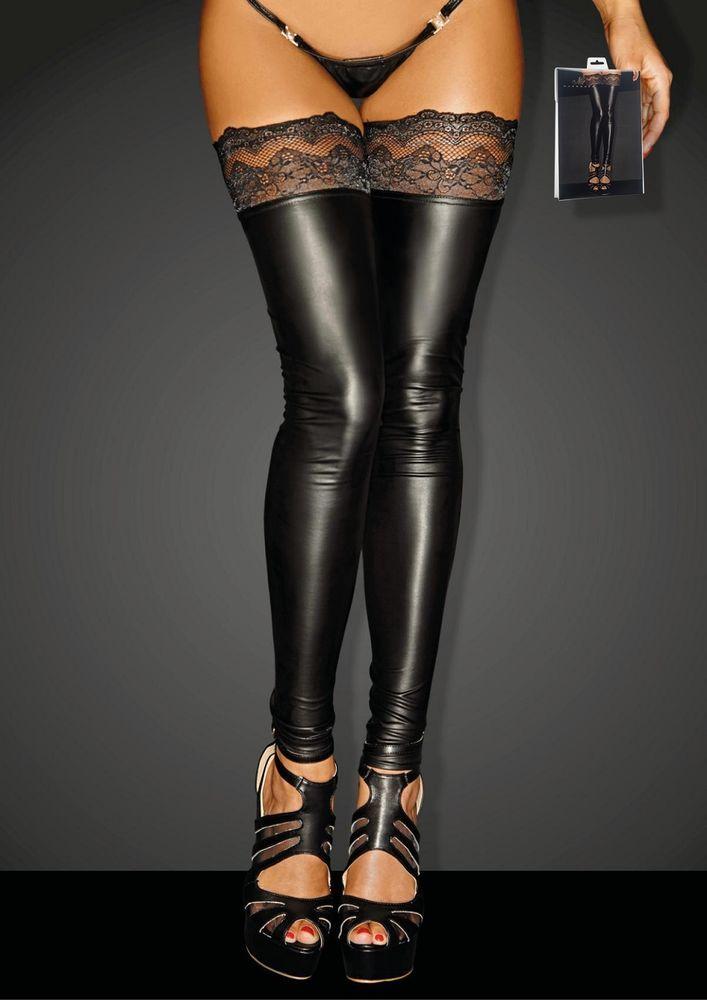 86beb0c76 Sexy black wet-look footless thigh high stockings by Noir Handmade Poland   NoirHandmade  ThighHighs