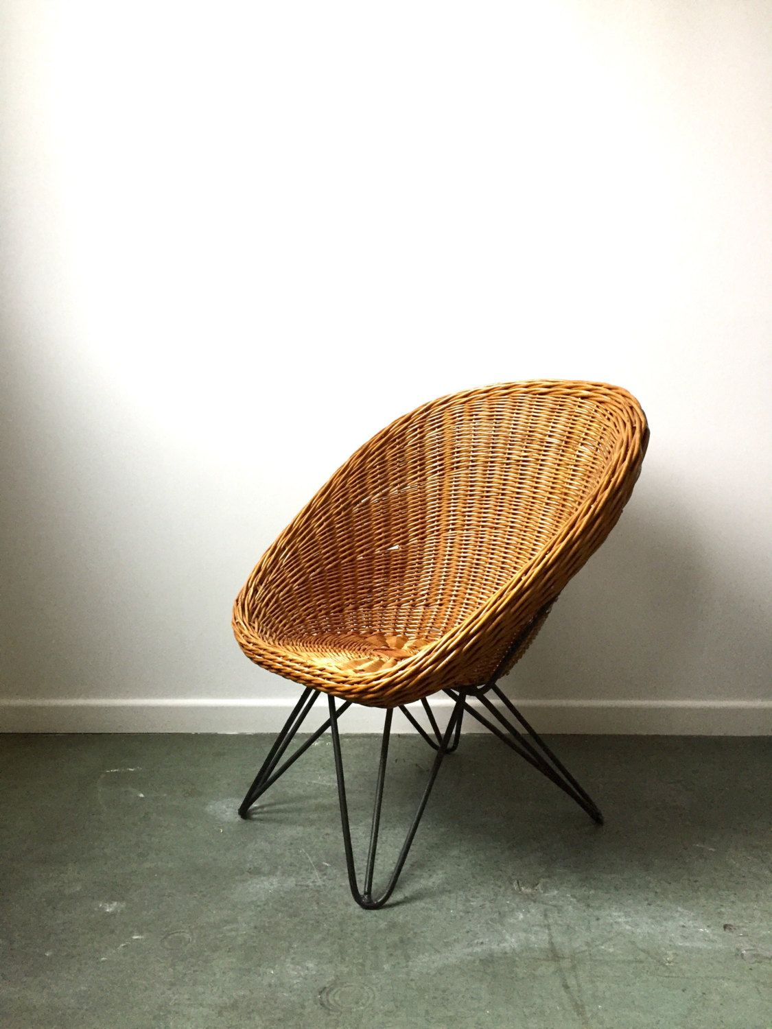 Kinder Korbstuhl Vintage Rattan Chair Wicker Chair Kids Vintage Loungstuhl