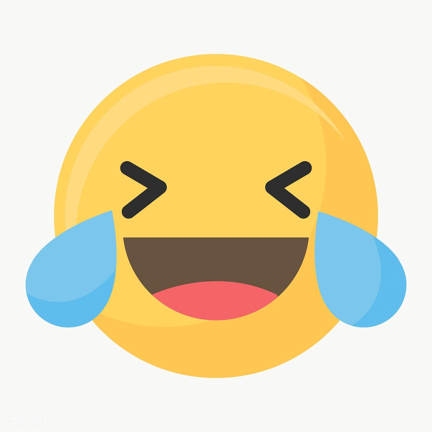 Download Premium Illustration Of Laughing Face Emoticon Symbol