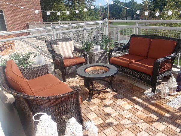 Rental apartment patio makeover pati o pinterest for Pictures of decorated small patios