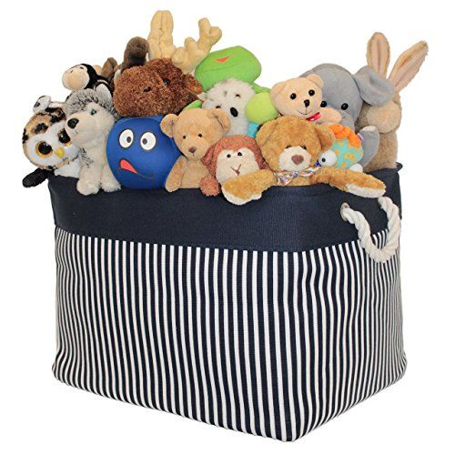 Canvas Toy Storage Basket And Bin Storage Organizer For Toys Nursery Baby And Kids Clothing Books Kn Kids Toy Organization Baby Toy Storage Canvas Toy Storage