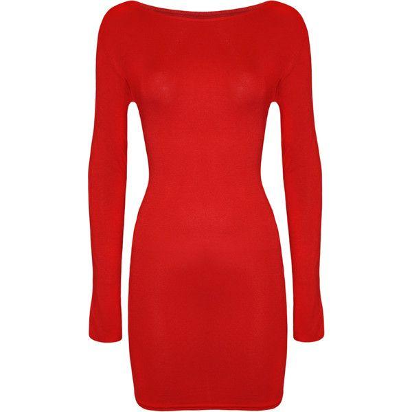 24+ Red long sleeve bodycon dress info