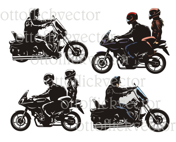 Motorcycle couple black metal mailbox topper
