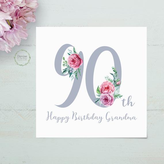 Free 90th Birthday Card Ideas
