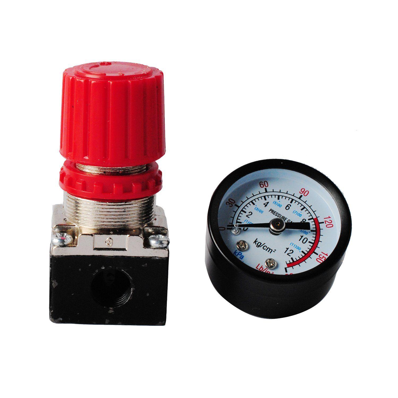 Wadoy 140PSI Air Compressor Pressure Regulator Gauge with