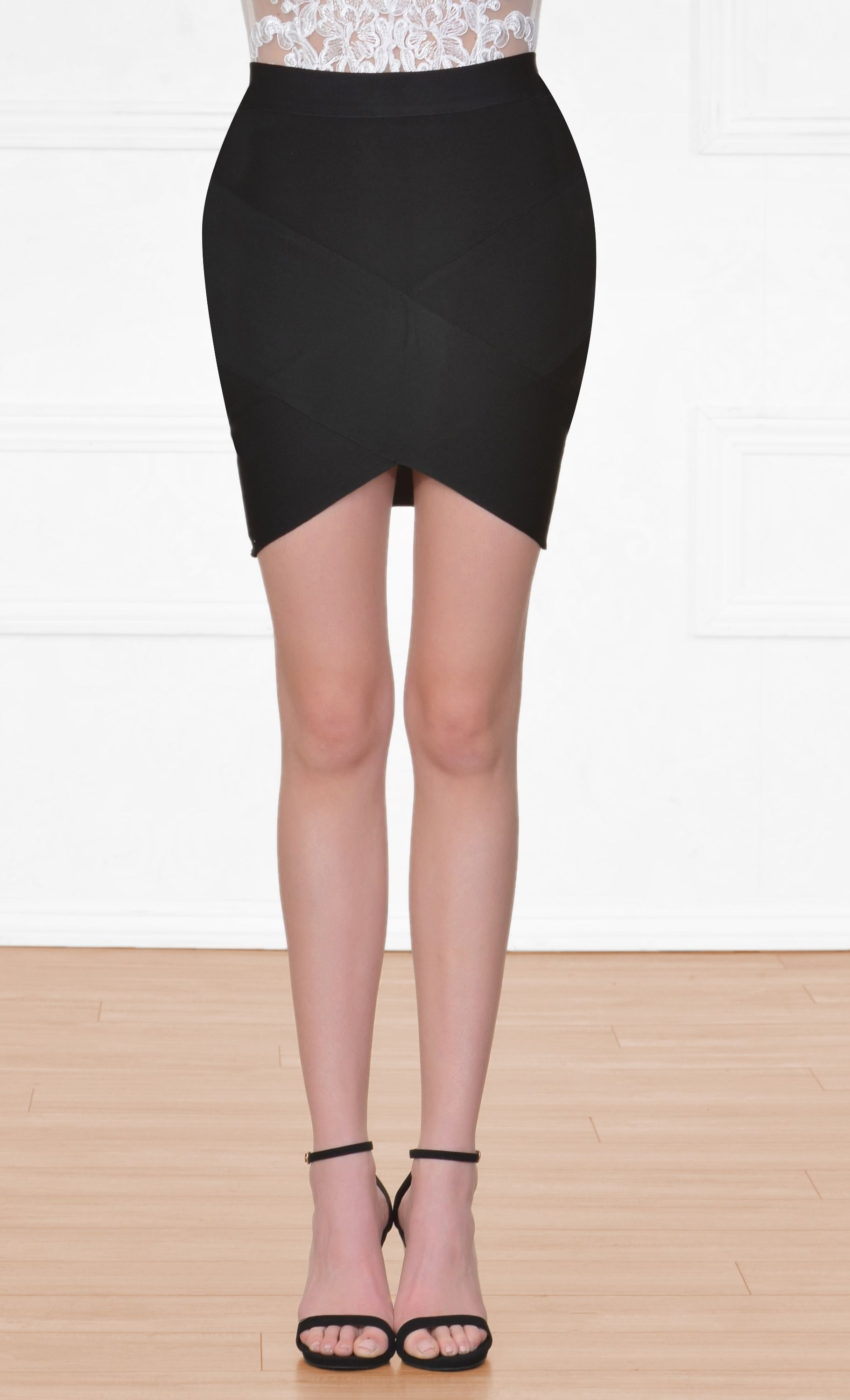 b826e0dd90ed74 Having A Ball Black Bodycon Tulip Bandage Mini Skirt | New Arrivals ...